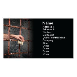 Prison corruption business card templates