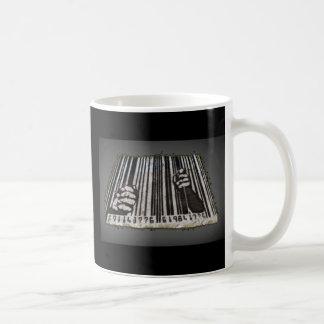PRISON JAIL BAR CODE COFFEE MUG