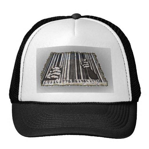 PRISON JAIL BAR CODE TRUCKER HAT