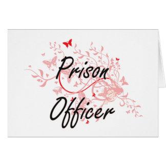 Prison Officer Artistic Job Design with Butterflie Card