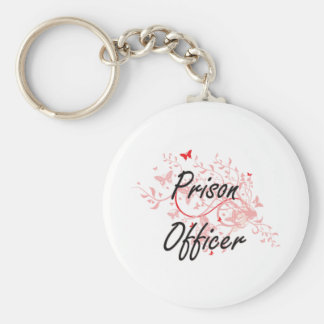 Prison Officer Artistic Job Design with Butterflie Keychain