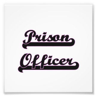 Prison Officer Classic Job Design Photo Print