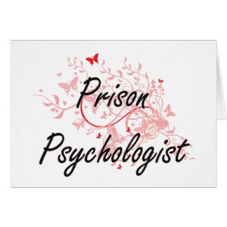 Prison Psychologist Artistic Job Design with Butte Card