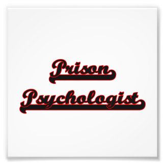 Prison Psychologist Classic Job Design Photo Print