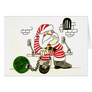 PRISON SANTA GREETING CARDS
