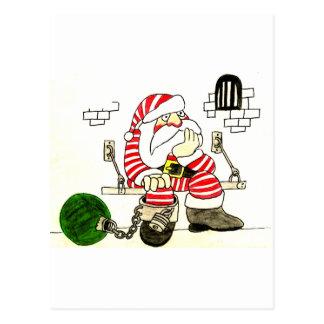 PRISON SANTA POST CARD