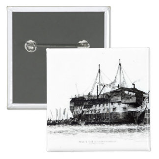 Prison Ship in Portsmouth Harbour Pinback Button