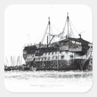 Prison Ship in Portsmouth Harbour Square Sticker