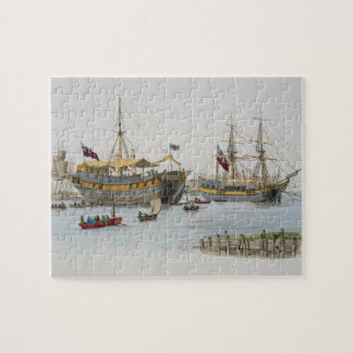 Prison Ships, from 'Costume of Great Britain', pub Jigsaw Puzzle