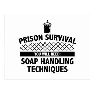 Prison Survival Postcard
