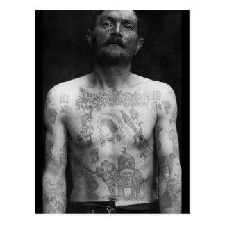 Prison Tattoos Postcard