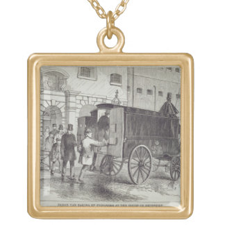 Prison Van taking up Prisoners at the House of Det Square Pendant Necklace