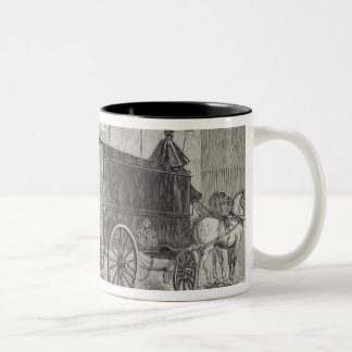 Prison Van taking up Prisoners at the House of Det Two-Tone Coffee Mug