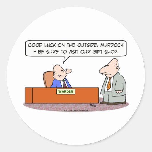 prison visit gift shop warden criminal round stickers