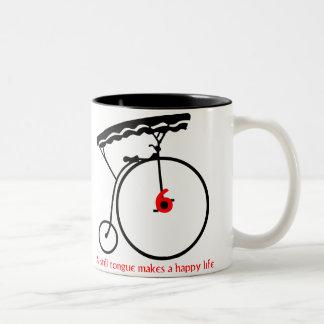 "Prisoner ""A Still Tongue Makes a Happy Life"" Two-Tone Coffee Mug"