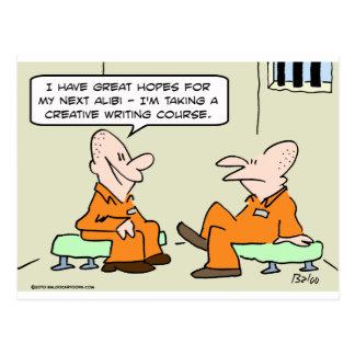 prisoner aliby creative writing postcard