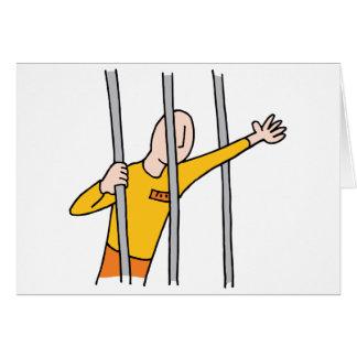 Prisoner Behind Bars Card