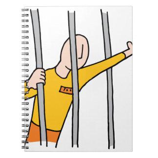 Prisoner Behind Bars Notebook