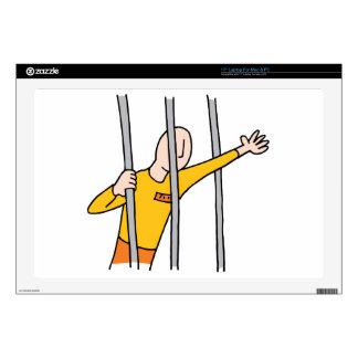 """Prisoner Behind Bars Skin For 17"""" Laptop"""