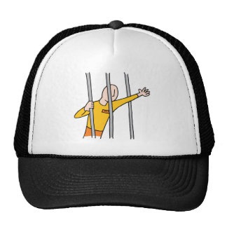 Prisoner Behind Bars Trucker Hat