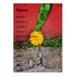 Prisoner flower business card templates