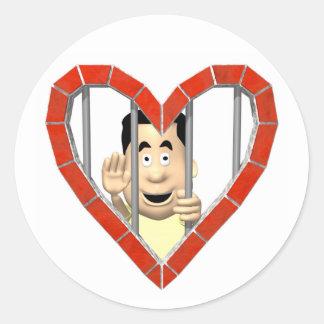 Prisoner of Love Round Stickers