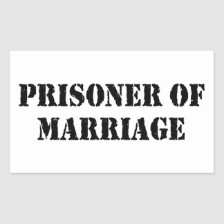 Prisoner of Marriage Rectangular Sticker
