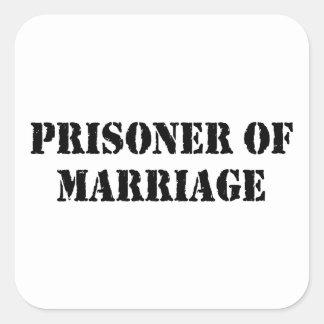 Prisoner of Marriage Square Sticker