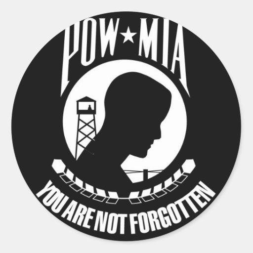 Prisoner of War - Missing in Action Sticker