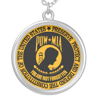 Prisoner Of War Silver Plated Necklace