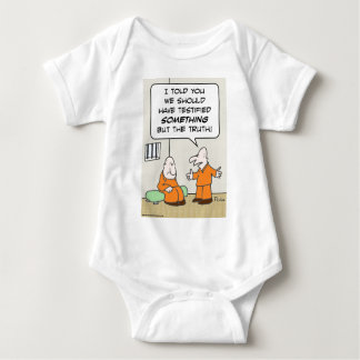 prisoners cell testify but the truth baby bodysuit