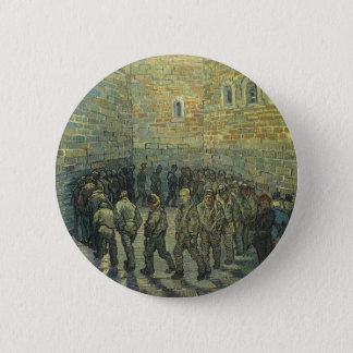 Prisoners Exercising by Vincent van Gogh Pinback Button