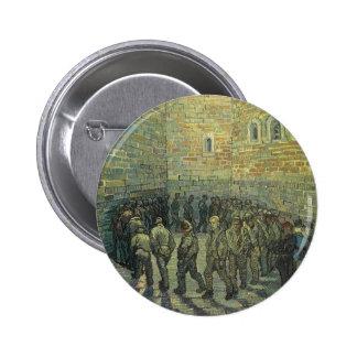 Prisoners Exercising by Vincent van Gogh Pinback Button