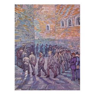 Prisoners Exercising Postcard