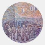 Prisoners Exercising Round Sticker