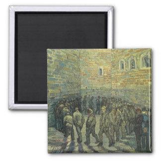 Prisoners Exercising, van Gogh, Vintage Fine Art 2 Inch Square Magnet