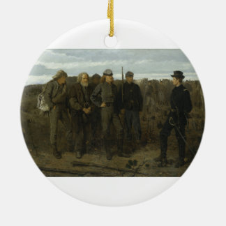 Prisoners from the Front by Winslow Homer 1866 Ceramic Ornament