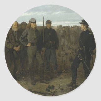 Prisoners from the Front by Winslow Homer 1866 Classic Round Sticker