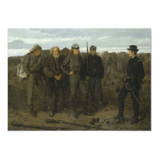 "Prisoners from the Front by Winslow Homer 1866 5"" X 7"" Invitation Card"