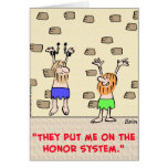 prisoners honor system greeting card
