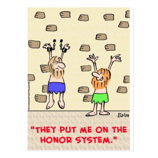 prisoners honor system postcard