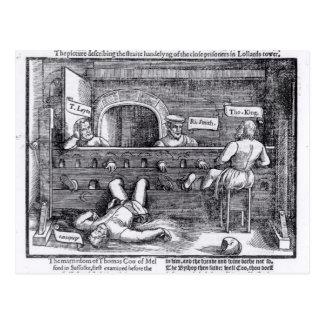 Prisoners in the Lollards' Tower Postcard