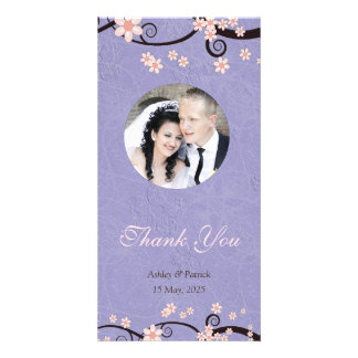 Prisoners of Love Violet Thank You Photo Photo Card