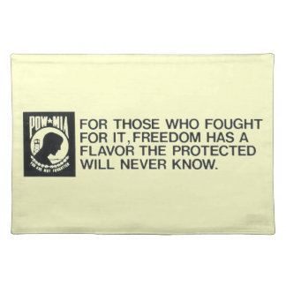Prisoners Of War, Missing in Action Cloth Placemat