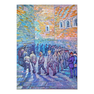 Prisoners walking the Round by Vincent van Gogh Card