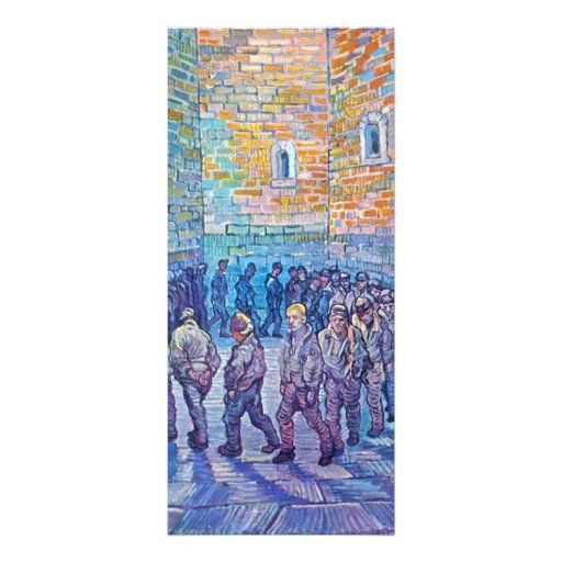 Prisoners walking the Round by Vincent van Gogh Rack Cards