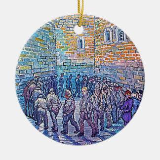 Prisoners Walking The Round Ceramic Ornament