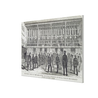 Prisoners Working at the Tread-Wheel and Others Ex Canvas Print