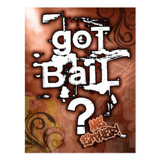 PrisonSong - Got Bail? Postcard