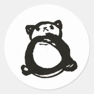 Prissy Panda Classic Round Sticker